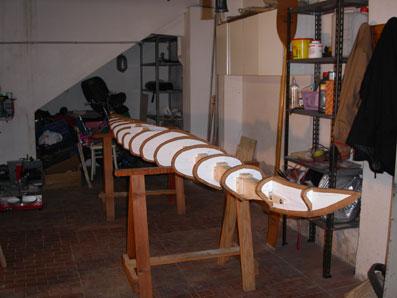 Costruzione di un kayak in legno con resina epossidica for Costruzione di un soppalco nel garage